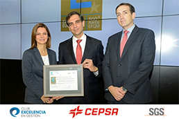 Cepsa Gas Unit awarded the European EFQM 500+ Seal of Excellence