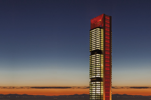 Cepsa Tower, a new and illuminated communications tool