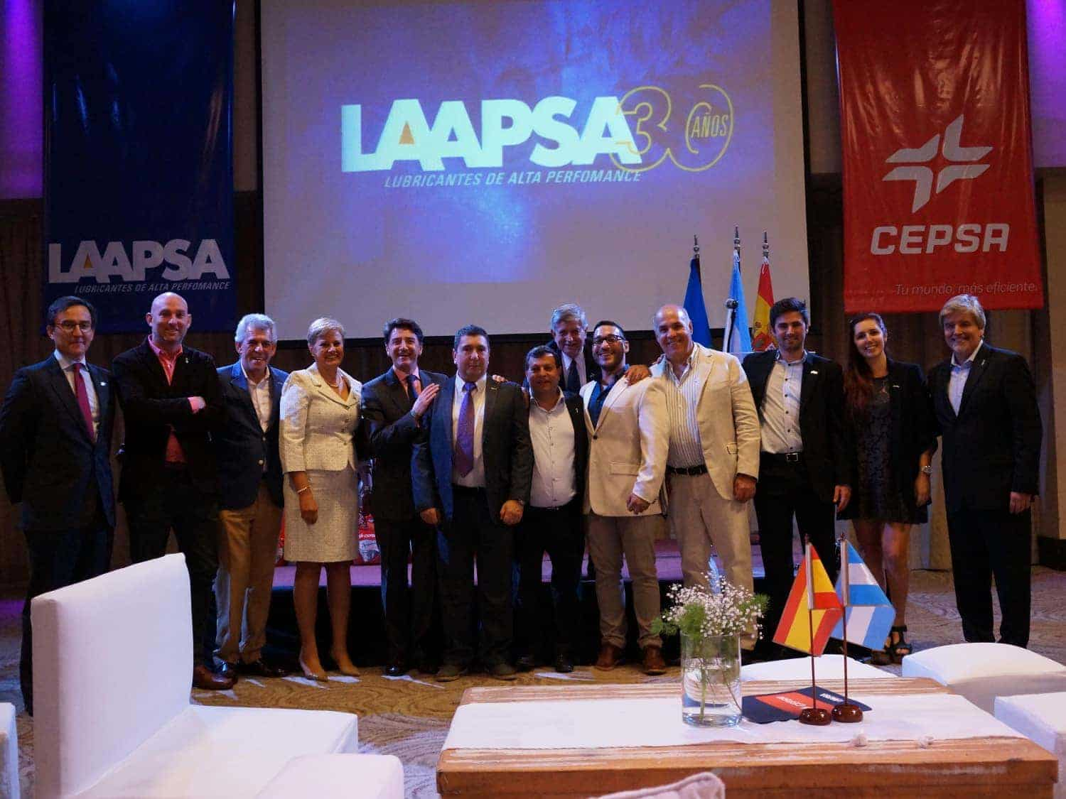 Representatives of Cepsa with their counterparts from LAAPSA at an event in Tigre (Buenos Aires)